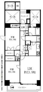 墨田区菊川藤和菊川ホームズ4998万円の間取り図