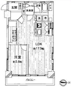 豊島区池袋セレクトガーデン池袋2980万円の間取り図