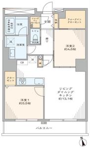 新宿区西早稲田西早稲田シティタワーの間取り図