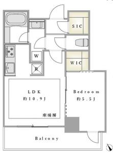 豊島区東池袋パークタワー池袋イーストプレイスの間取り図