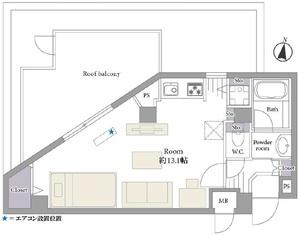 中野区大和町ガラステージ高円寺2799万円の間取り図