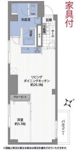 新宿区大久保新宿フラワーハイホームの間取り図