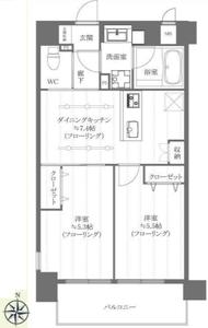 新宿区百人町エクセルシオール新宿西戸山の間取り図