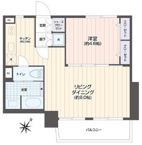 豊島区東池袋池袋パークハイツ2680万円の間取り図