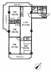 杉並区和田富士見ステータス4980万円の間取り図