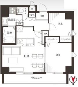 墨田区両国プレストマーロ両国3980万円の間取り図