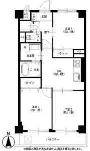 墨田区石原ライオンズマンション両国第53290万円の間取り図
