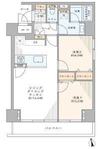 台東区東上野シティコープ上野広徳の間取り図