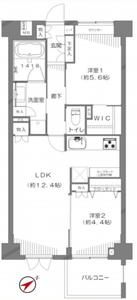 豊島区西池袋エクセル立教前4980万円の間取り図