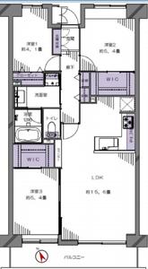 新宿区高田馬場高田馬場パークホームズ6280万円の間取り図