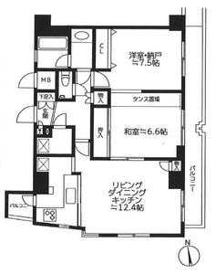台東区浅草橋シーアイマンション浅草橋4780万円の間取り図