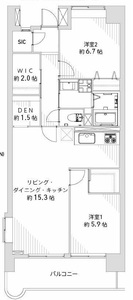 墨田区横川プリメール柳島の間取り図