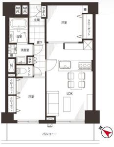 新宿区新小川町新神楽坂ハウス4980万円の間取り図