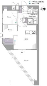 新宿区西早稲田パシフィック西早稲田4299万円の間取り図