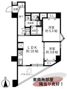 文京区大塚護国寺ロイアルハイツ3680万円の間取り図