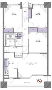 新宿区上落合落合シティタワー6480万円の間取り図