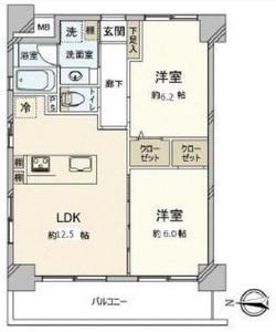 台東区元浅草ダイアパレス元浅草ブライトスクエア4680万円の間取り図