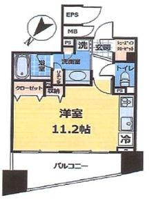 台東区雷門ダイナシティ雷門3180万円の間取り図