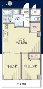 台東区駒形柳恵キングハイツ3480万円の間取り図