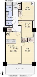新宿区市谷薬王寺町牛込台マンションの間取り図