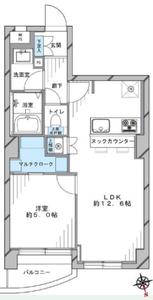 渋谷区広尾ルモン広尾の間取り図