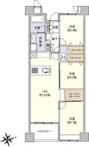 台東区北上野ドラゴンマンション上野壱番館の間取り図