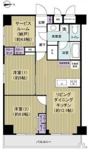 豊島区南大塚アルカディア新大塚3790万円の間取り図