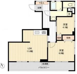 豊島区東池袋オリエンタル新大塚コーポラス2880万円の間取り図