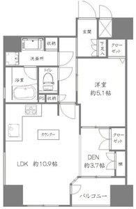 台東区下谷CQレジデンシャル上野3899万円の間取り図