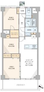 新宿区若松町近鉄ハイツ新宿の間取り図