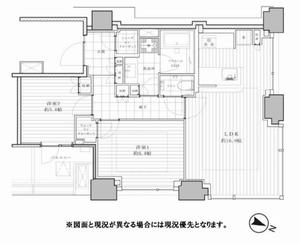 千代田区飯田橋シティタワー九段下1億680万円の間取り図