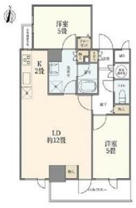 新宿区西早稲田カーネ西早稲田4290万円の間取り図
