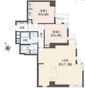 豊島区高田レインボー目白の間取り図