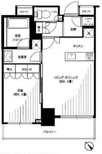 豊島区東池袋パークタワー池袋イーストプレイス4480万円の間取り図