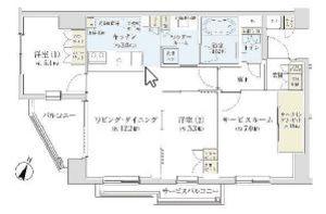 渋谷区広尾サンアリーナ広尾1億2600万円の間取り図