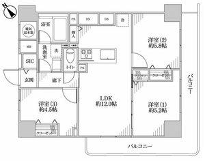 台東区入谷上野ロイヤルハイツの間取り図