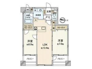 台東区竜泉マイキャッスル入谷4480万円の間取り図