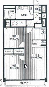 港区白金台マンション京都白金台の間取り図
