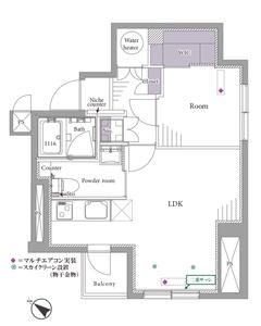 新宿区西新宿ライオンズマンション初台第33099万円の間取り図