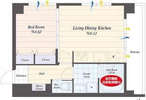 渋谷区上原上原ハウスの間取り図