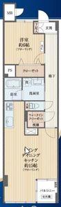 渋谷区千駄ヶ谷第7宮庭マンションの間取り図