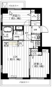 渋谷区広尾第2広尾フラワーハイホームA棟4699万円の間取り図