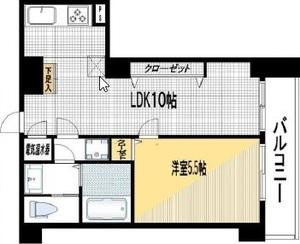 港区白金ライオンズマンション白金第33280万円の間取り図