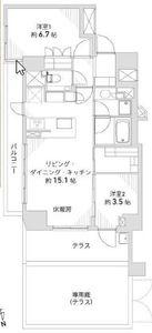 渋谷区代官山町ザパークハウス代官山1億900万円の間取り図
