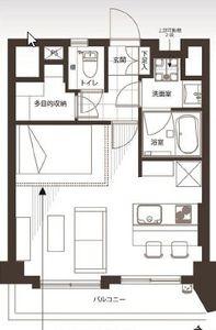 渋谷区神宮前シャンボール原宿3480万円の間取り図