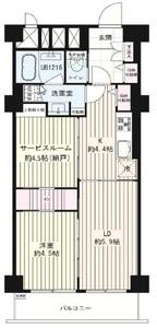 港区西麻布秀和麻布笄町レジデンス4380万円の間取り図