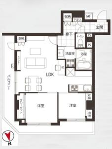 台東区浅草橋浅草橋アムフラット24580万円の間取り図