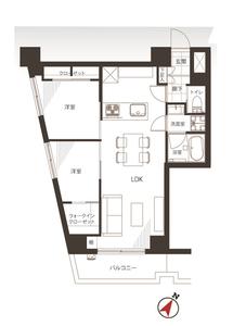 豊島区長崎ライオンズマンション東長崎第2の間取り図