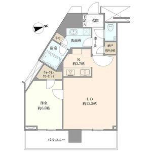 目黒区大橋プリズムタワー6500万円の間取り図