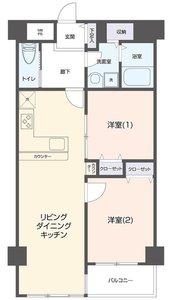 新宿区若松町メイツ新宿なつめ坂4380万円の間取り図